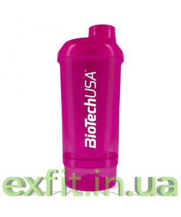 BioTech USA Шейкер Wave+Compact shaker 500 мл (+150 мл) пурпурный