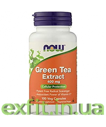 NOW Green Tea Extract 400 mg(100 вег. капсул)