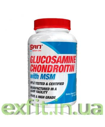 SAN Glucosamine Chondroitin with MSM (90 таблеток)