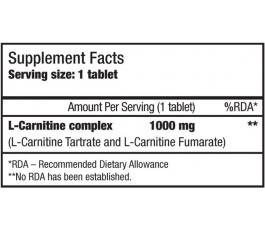 L-Carnitine 1000 mg (30 таблеток)