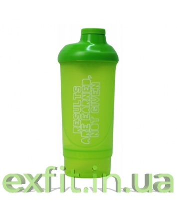 BioTech USA Шейкер Wave+Compact shaker 500 мл (+150 мл) зелёный