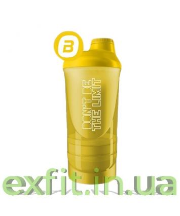 BioTech USA Шейкер Dont be the limit Wave+500 мл (+250 мл+100 мл) желтый