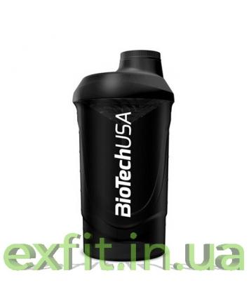 BioTech USA Шейкер Wave (600 мл) чёрный