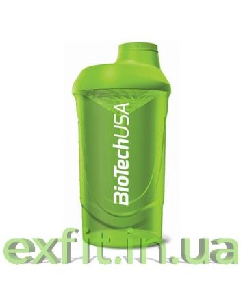 BioTech USA Шейкер Wave (600 мл) зелёный