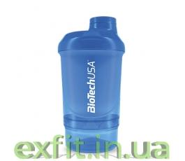 Шейкер Wave+Nano Shaker 300 мл (+150 мл) голубой