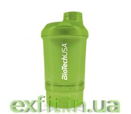 Шейкер Wave+Nano Shaker 300 мл (+150 мл) зеленый
