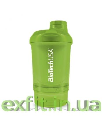 BioTech USA Шейкер Wave+Nano Shaker 300 мл (+150 мл) зеленый