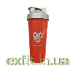 Shaker with metall ball (600 мл) красно-серый