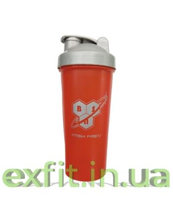 BSN Shaker with metall ball (600 мл) красно-серый