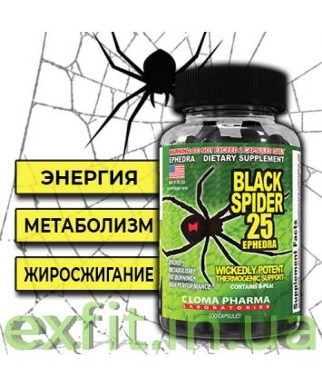 Cloma Pharma Black Spider 25 Ephedra (100 капсул)