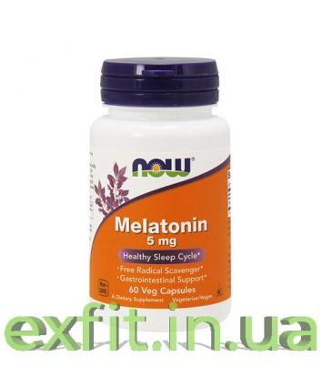 NOW Melatonin 5 мг (60 капсул)