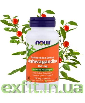 NOW Ashwagandha 450 mg (90 veg capsules)