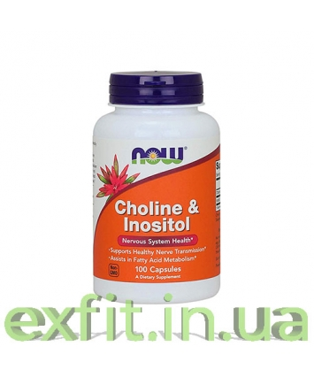 NOW Choline & Inositol 500 mg (100 капсул)