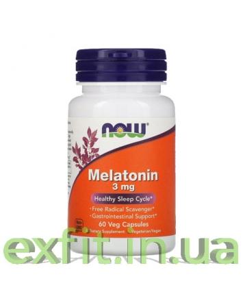NOW Melatonin 3 мг (60 капсул)