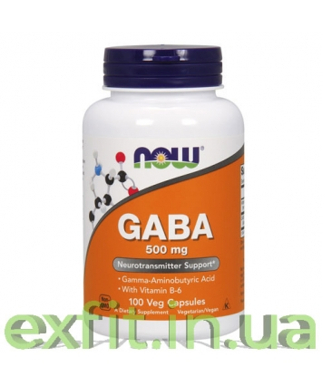 NOW GABA 500 mg (100 капсул)