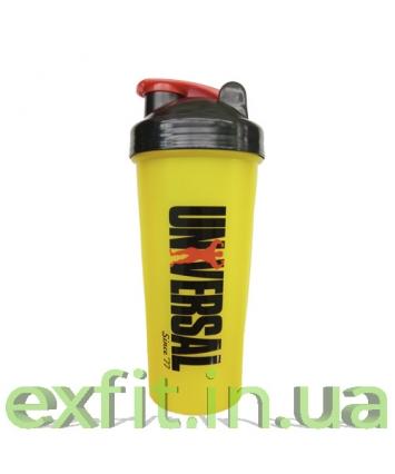 Universal Shaker with metall ball (600 мл) желтый